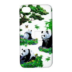 Cute Panda Cartoon Apple iPhone 4/4S Hardshell Case with Stand