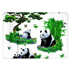 Cute Panda Cartoon Samsung Galaxy Tab 10.1  P7500 Flip Case
