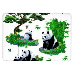 Cute Panda Cartoon Samsung Galaxy Tab 8.9  P7300 Flip Case