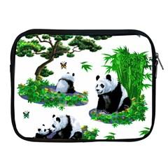 Cute Panda Cartoon Apple Ipad 2/3/4 Zipper Cases