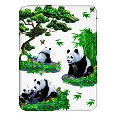 Cute Panda Cartoon Samsung Galaxy Tab 3 (10.1 ) P5200 Hardshell Case