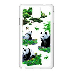 Cute Panda Cartoon Samsung Galaxy Note 3 N9005 Case (white)