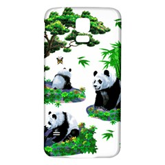 Cute Panda Cartoon Samsung Galaxy S5 Back Case (White)