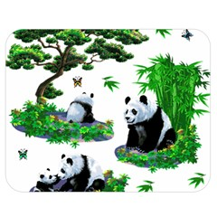 Cute Panda Cartoon Double Sided Flano Blanket (medium)