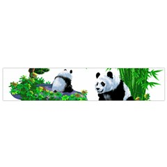 Cute Panda Cartoon Flano Scarf (Small)