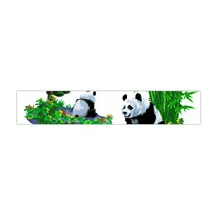 Cute Panda Cartoon Flano Scarf (mini)