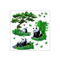 Cute Panda Cartoon Satin Bandana Scarf