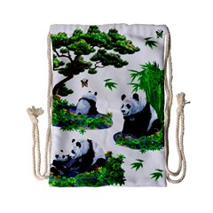 Cute Panda Cartoon Drawstring Bag (Small)