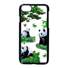 Cute Panda Cartoon Apple Iphone 7 Seamless Case (black)
