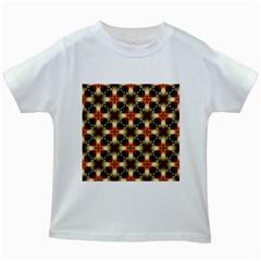 Kaleidoscope Image Background Kids White T-Shirts