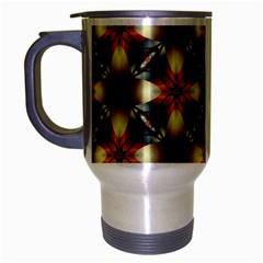 Kaleidoscope Image Background Travel Mug (Silver Gray)