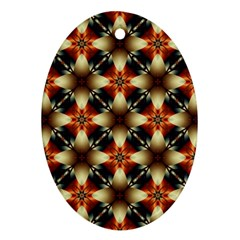 Kaleidoscope Image Background Oval Ornament (two Sides)