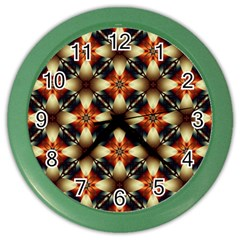 Kaleidoscope Image Background Color Wall Clocks