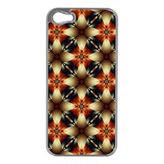 Kaleidoscope Image Background Apple iPhone 5 Case (Silver)
