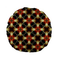 Kaleidoscope Image Background Standard 15  Premium Round Cushions