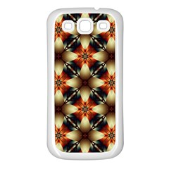 Kaleidoscope Image Background Samsung Galaxy S3 Back Case (White)