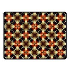 Kaleidoscope Image Background Double Sided Fleece Blanket (small)