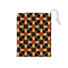 Kaleidoscope Image Background Drawstring Pouches (Medium)