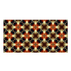 Kaleidoscope Image Background Satin Shawl