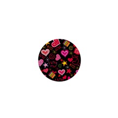 Love Hearts Sweet Vector 1  Mini Buttons
