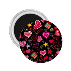 Love Hearts Sweet Vector 2 25  Magnets