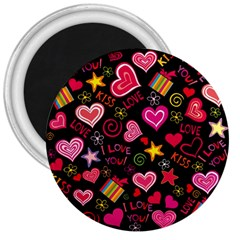 Love Hearts Sweet Vector 3  Magnets