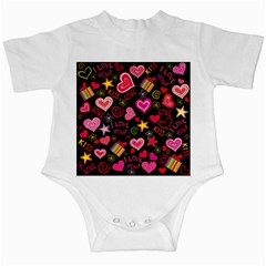 Love Hearts Sweet Vector Infant Creepers