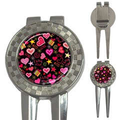 Love Hearts Sweet Vector 3 In 1 Golf Divots
