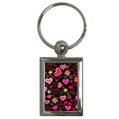 Love Hearts Sweet Vector Key Chains (rectangle)