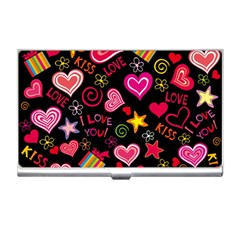 Love Hearts Sweet Vector Business Card Holders