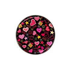 Love Hearts Sweet Vector Hat Clip Ball Marker (4 Pack)
