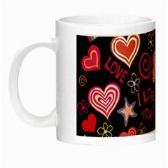Love Hearts Sweet Vector Night Luminous Mugs