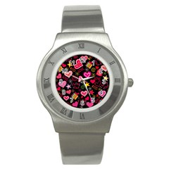 Love Hearts Sweet Vector Stainless Steel Watch