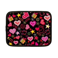 Love Hearts Sweet Vector Netbook Case (Small)