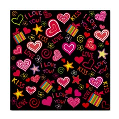 Love Hearts Sweet Vector Face Towel