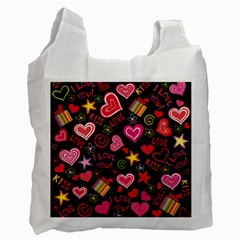 Love Hearts Sweet Vector Recycle Bag (One Side)