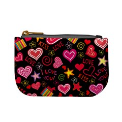 Love Hearts Sweet Vector Mini Coin Purses