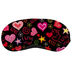 Love Hearts Sweet Vector Sleeping Masks