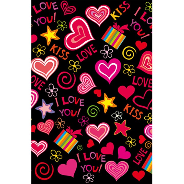 Love Hearts Sweet Vector 5.5  x 8.5  Notebooks