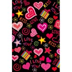 Love Hearts Sweet Vector 5.5  x 8.5  Notebooks Back Cover Inside