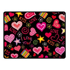 Love Hearts Sweet Vector Fleece Blanket (Small)