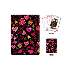Love Hearts Sweet Vector Playing Cards (Mini)