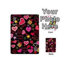 Love Hearts Sweet Vector Playing Cards 54 (Mini)