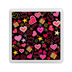 Love Hearts Sweet Vector Memory Card Reader (square)