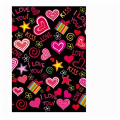 Love Hearts Sweet Vector Large Garden Flag (Two Sides)