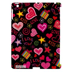 Love Hearts Sweet Vector Apple iPad 3/4 Hardshell Case (Compatible with Smart Cover)