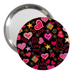 Love Hearts Sweet Vector 3  Handbag Mirrors