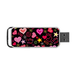 Love Hearts Sweet Vector Portable USB Flash (One Side)