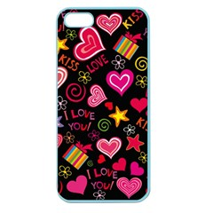 Love Hearts Sweet Vector Apple Seamless iPhone 5 Case (Color)