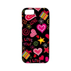 Love Hearts Sweet Vector Apple iPhone 5 Classic Hardshell Case (PC+Silicone)